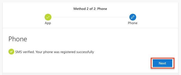 SMS Verified page