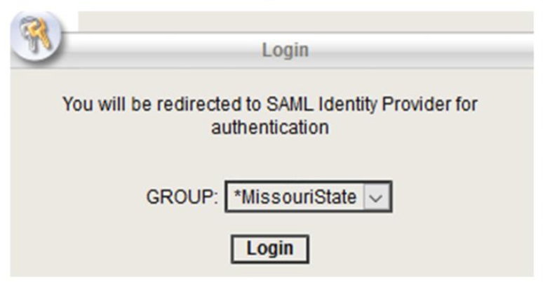 Login prompt for MissouriState VPN group.