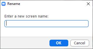Enter a screen name.