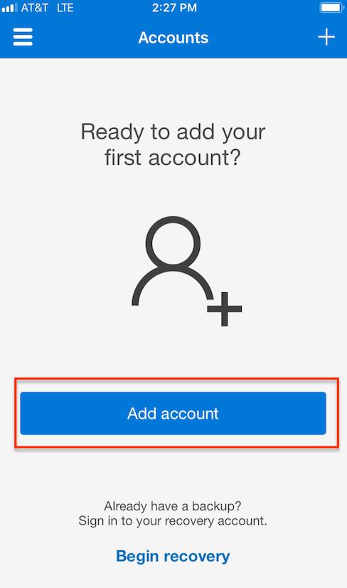 add account button