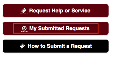 My Submitted Requests button on the Service Portal Home page