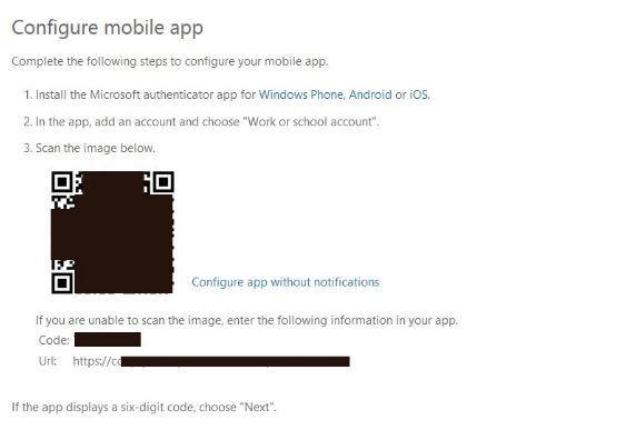 configure mobile app screen