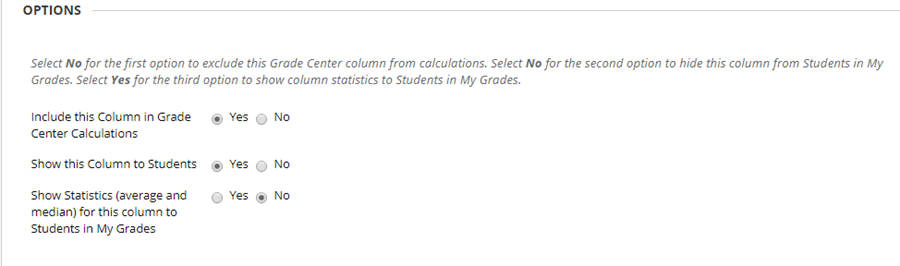 If desired choose Show statistics to gather data for this column
