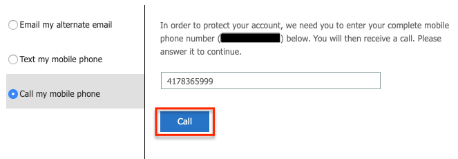 Receive phone call