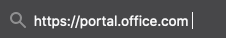 Access the Office 365 portal with https://portal.office.com as the URL.