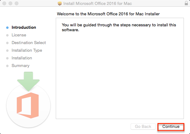 Welcome to Office Installer Mac Window
