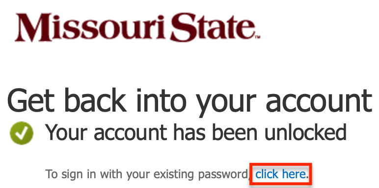 Account unlocked successfully