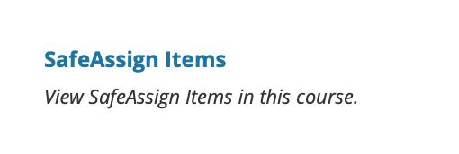 safe assign items link
