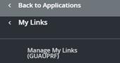 manage my links option