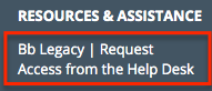 Link to Bb Legacy in LMS Resources site