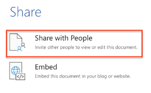 image showing share options