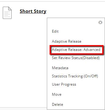 adaptive release: advanced link