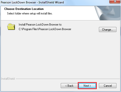 InstallShield Wizard choose destination location window