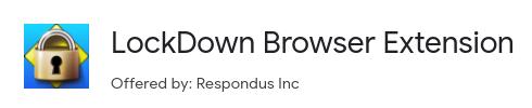Repondus LockDown Browser Chromebook extension logo.