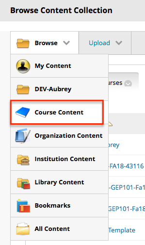 Navigate to Course Content.