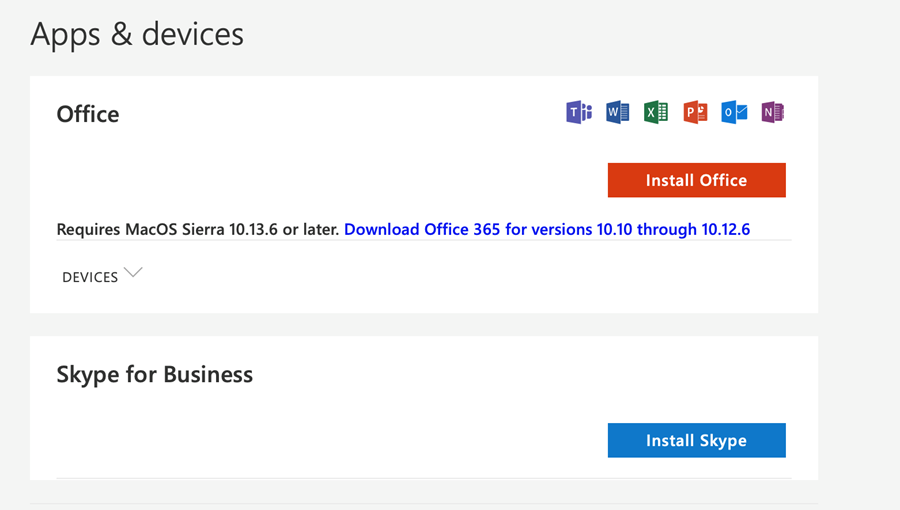 skype for business download page