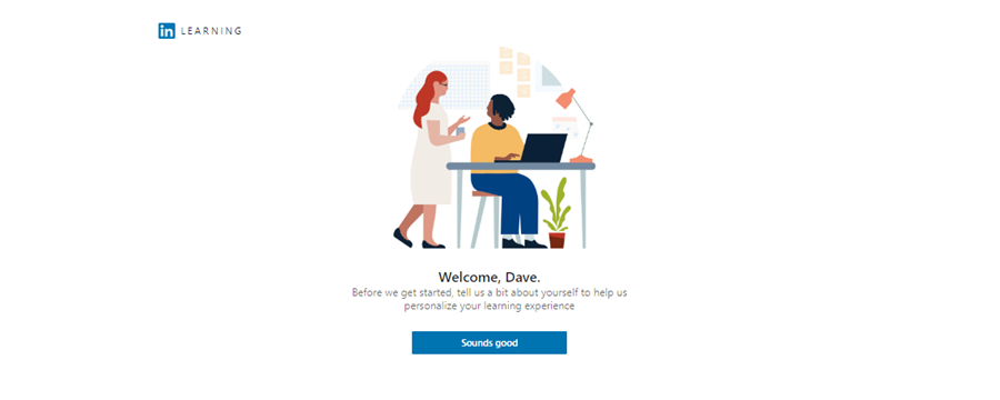 LinkedIn Learning Welcome page