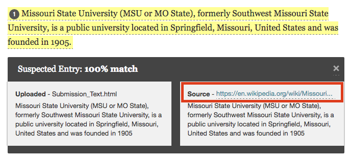 Click on the number next to the source to view source information.