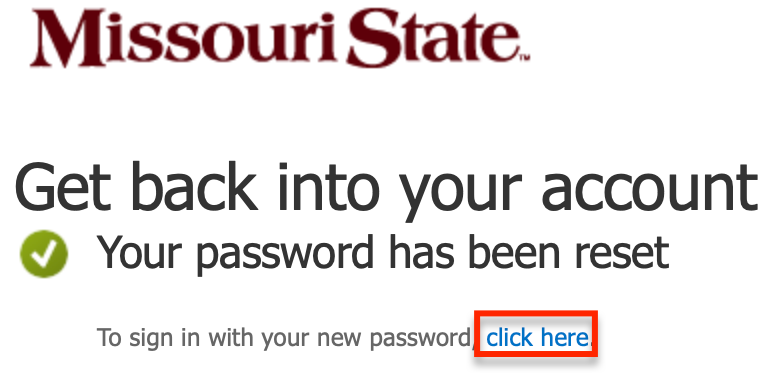 Successfully changed password