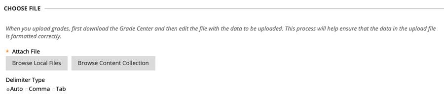 Choose file options