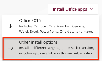 Image showing list of office apps to choose from