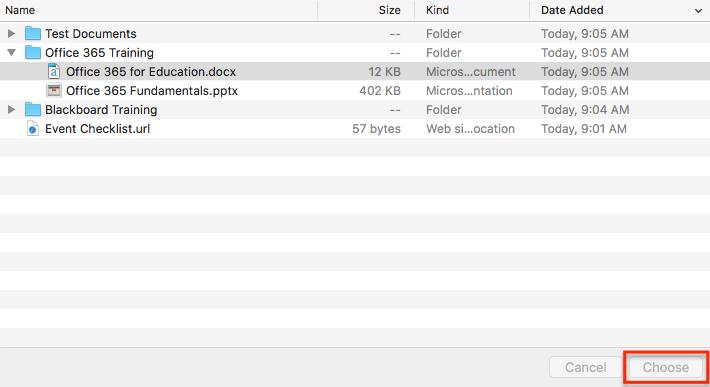 Image showing file explorer on mac