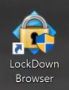 Click on the lockdown browser shortcut located on your desktop.