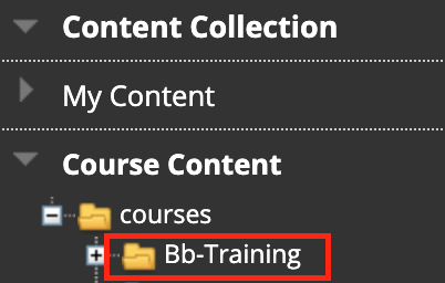 Access the Content Collection from the Blackboard home page menu