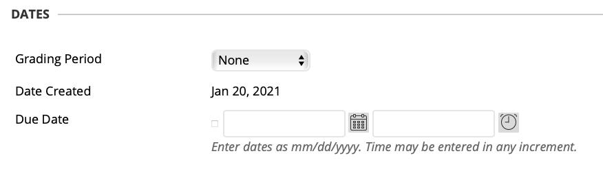 grade center date options