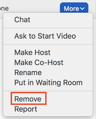 From the more options menu click remove.