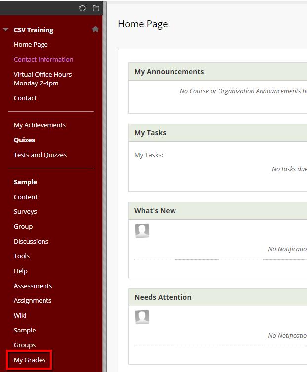 my grades link