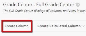 Click on Create Column in the Full Grade Center