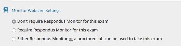 Monitor webcam settings window
