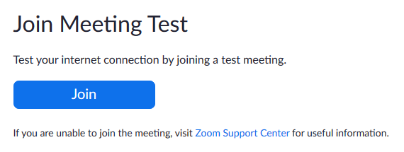 click Join to begin the meeting.