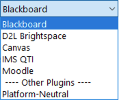 Current personality list with blackboard selected