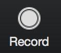 record icon to clock to start recording