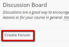 create forum link