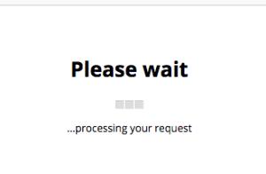 please wait screen