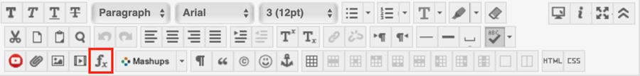 math editor button