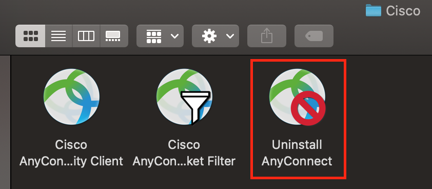 Uninstall AnyConnect Application